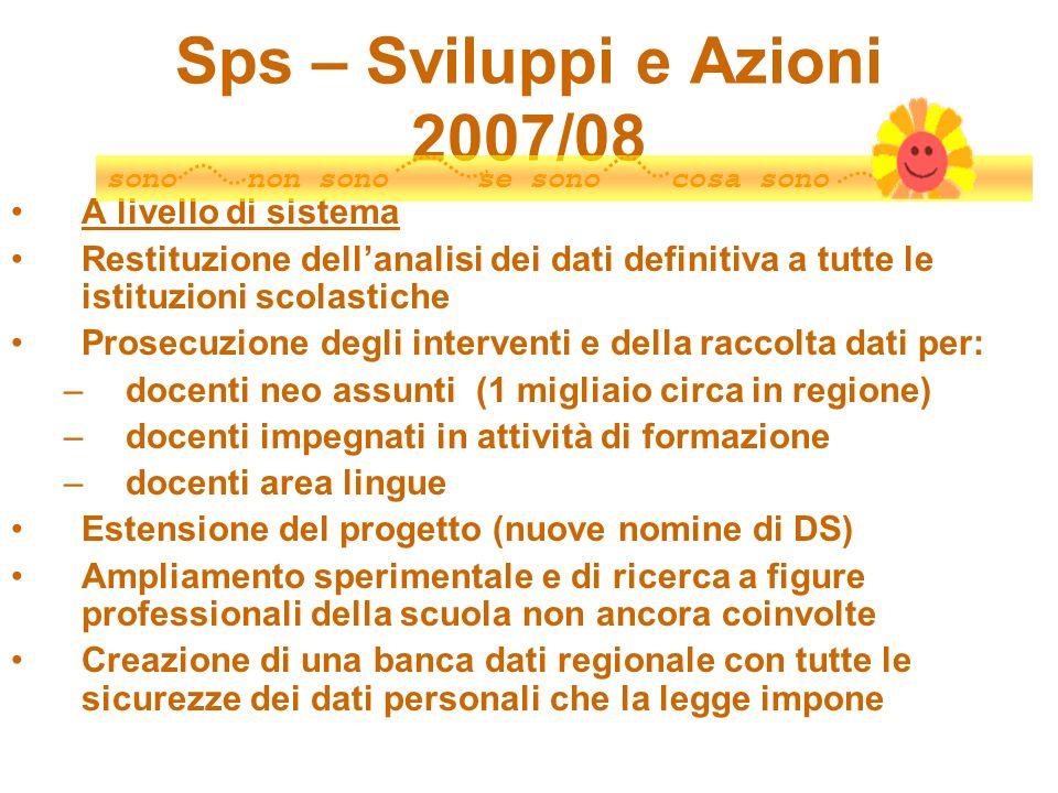 Sps – Sviluppi e Azioni 2007/08