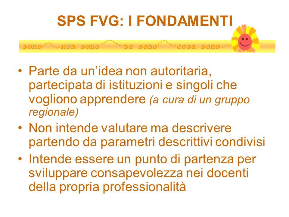 SPS FVG: I FONDAMENTI sono non sono se sono cosa sono.