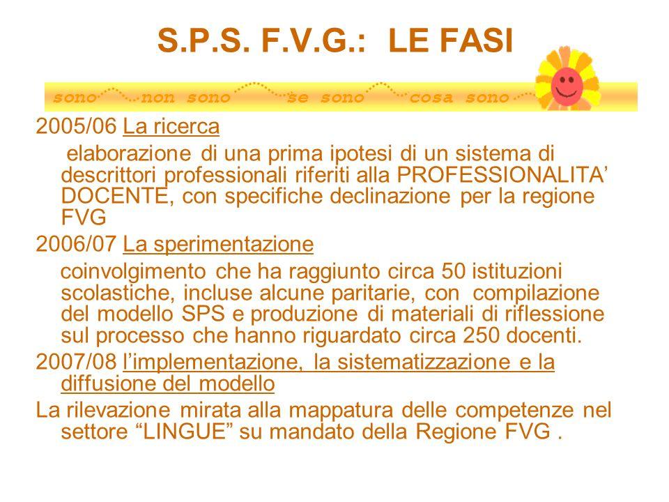 S.P.S. F.V.G.: LE FASI 2005/06 La ricerca
