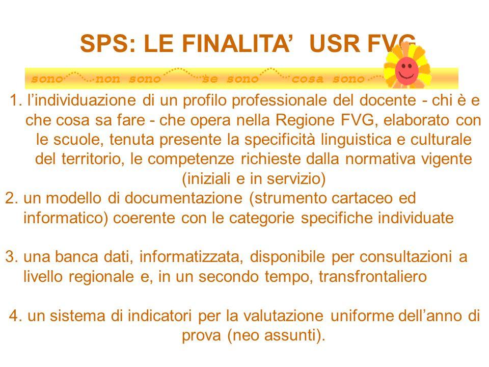 SPS: LE FINALITA' USR FVG
