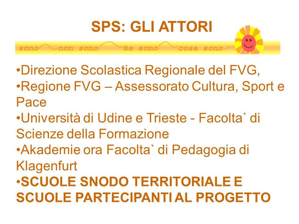 SPS: GLI ATTORI Direzione Scolastica Regionale del FVG,