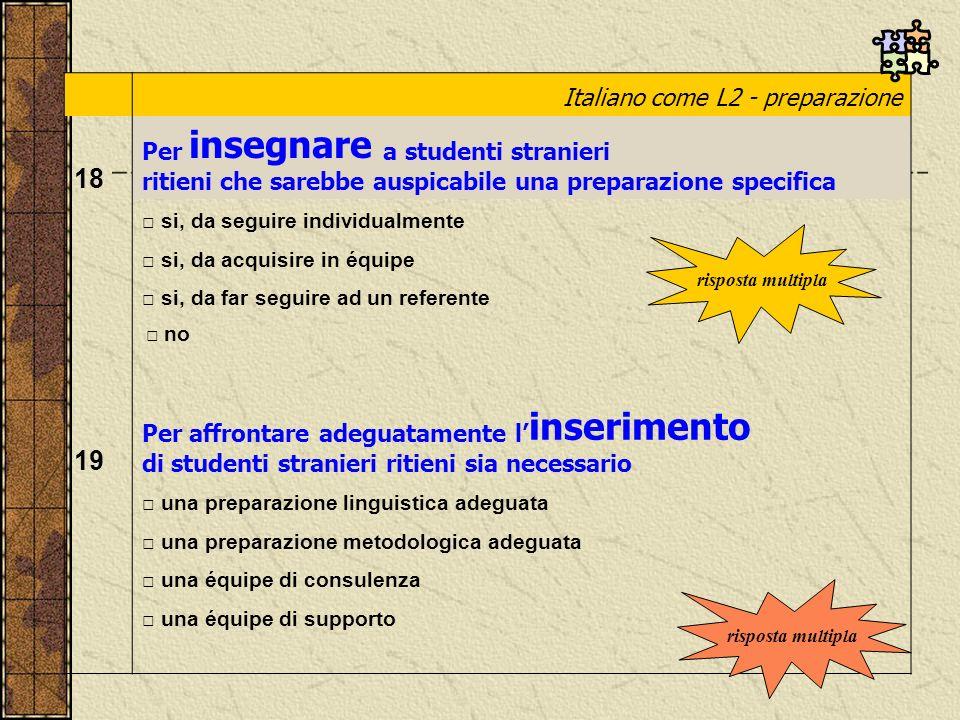 18 19 Italiano come L2 - preparazione