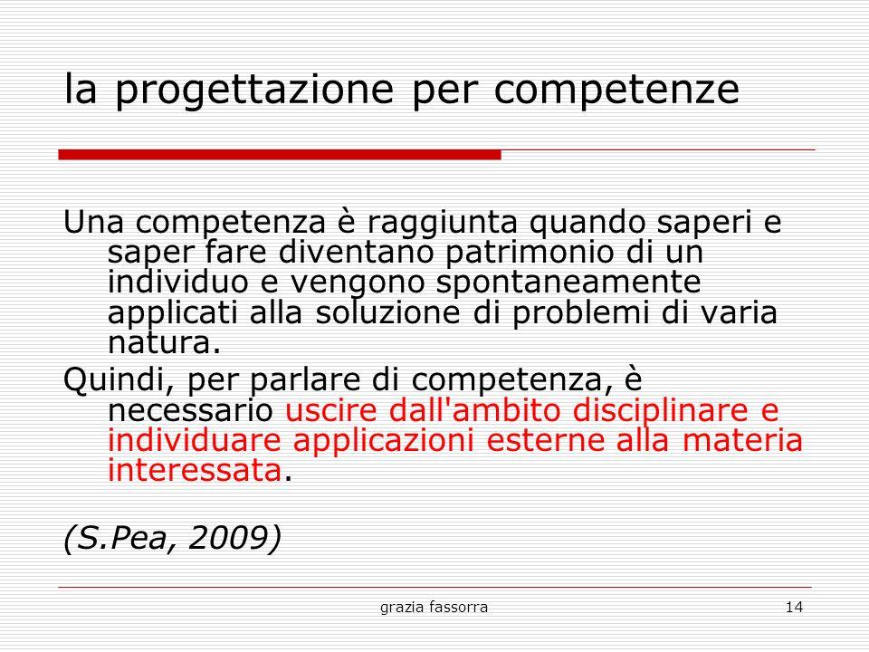 la progettazione per competenze