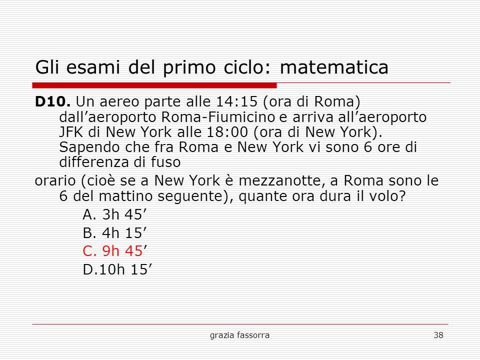Gli esami del primo ciclo: matematica