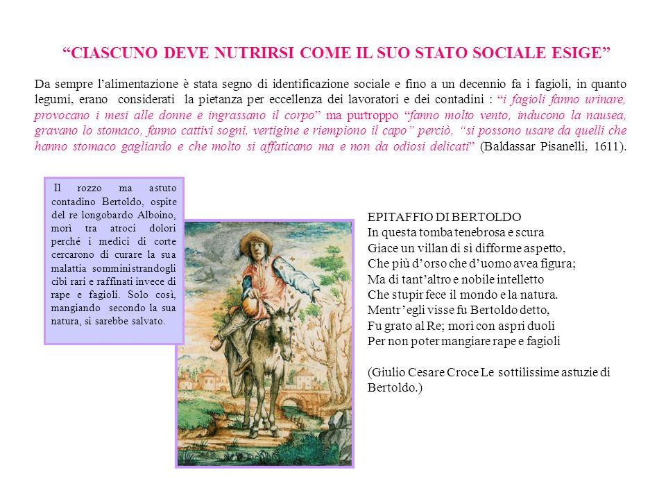 CIASCUNO DEVE NUTRIRSI COME IL SUO STATO SOCIALE ESIGE