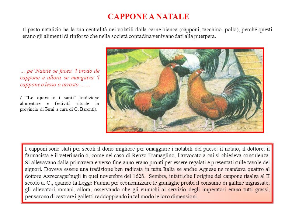 CAPPONE A NATALE