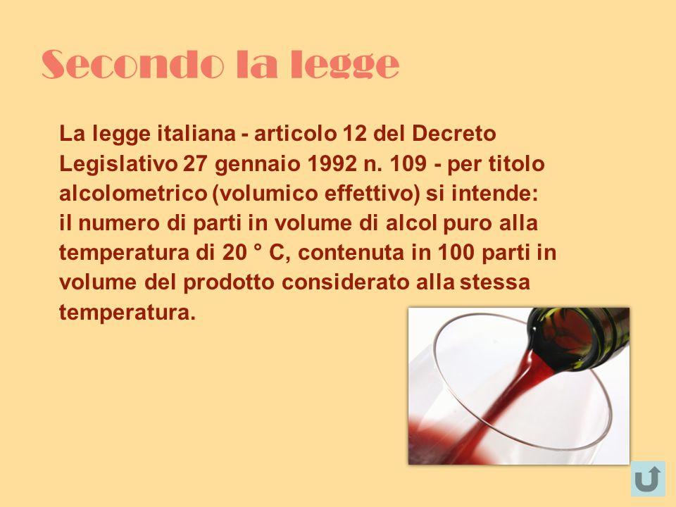 Secondo la legge La legge italiana - articolo 12 del Decreto