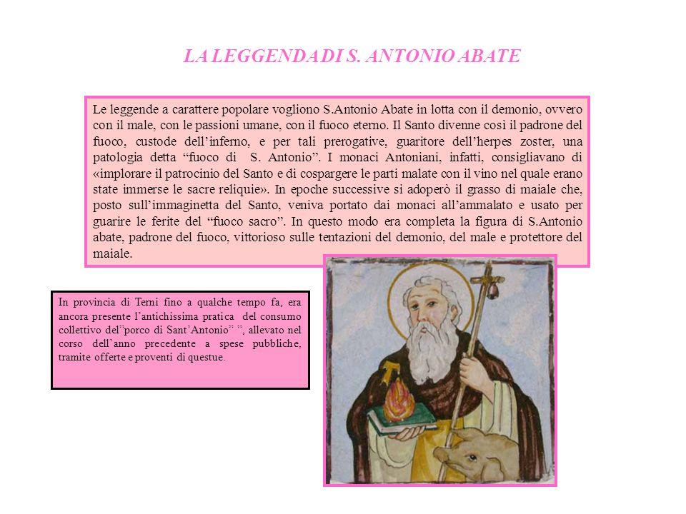 LA LEGGENDA DI S. ANTONIO ABATE