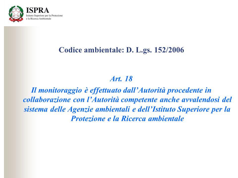 Codice ambientale: D. L.gs. 152/2006