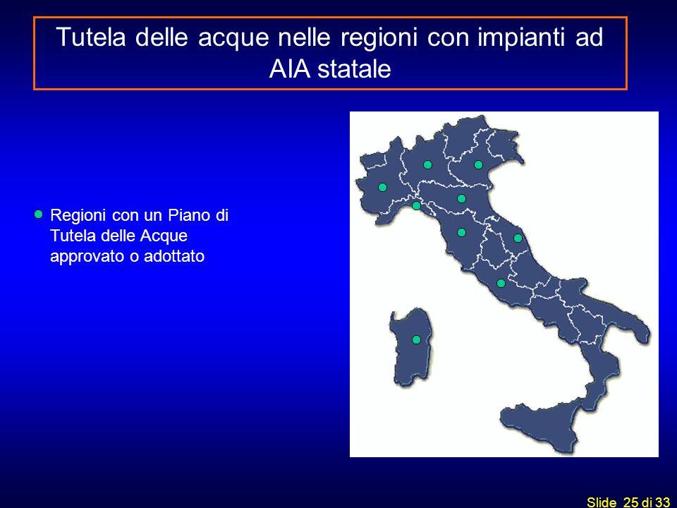 Tutela delle acque nelle regioni con impianti ad AIA statale