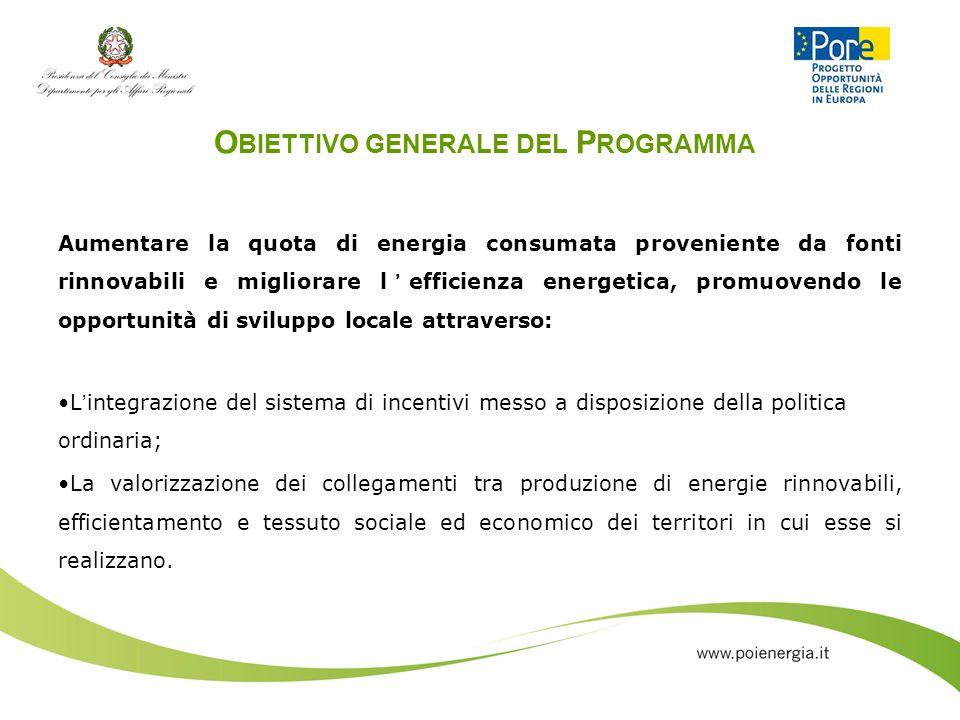 Obiettivo generale del Programma