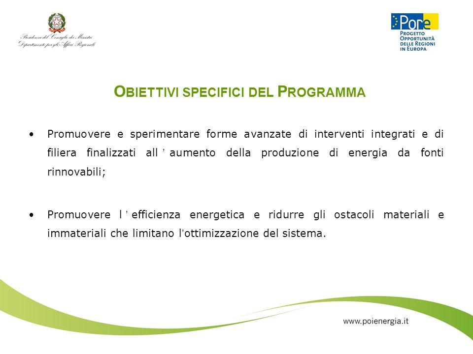 Obiettivi specifici del Programma