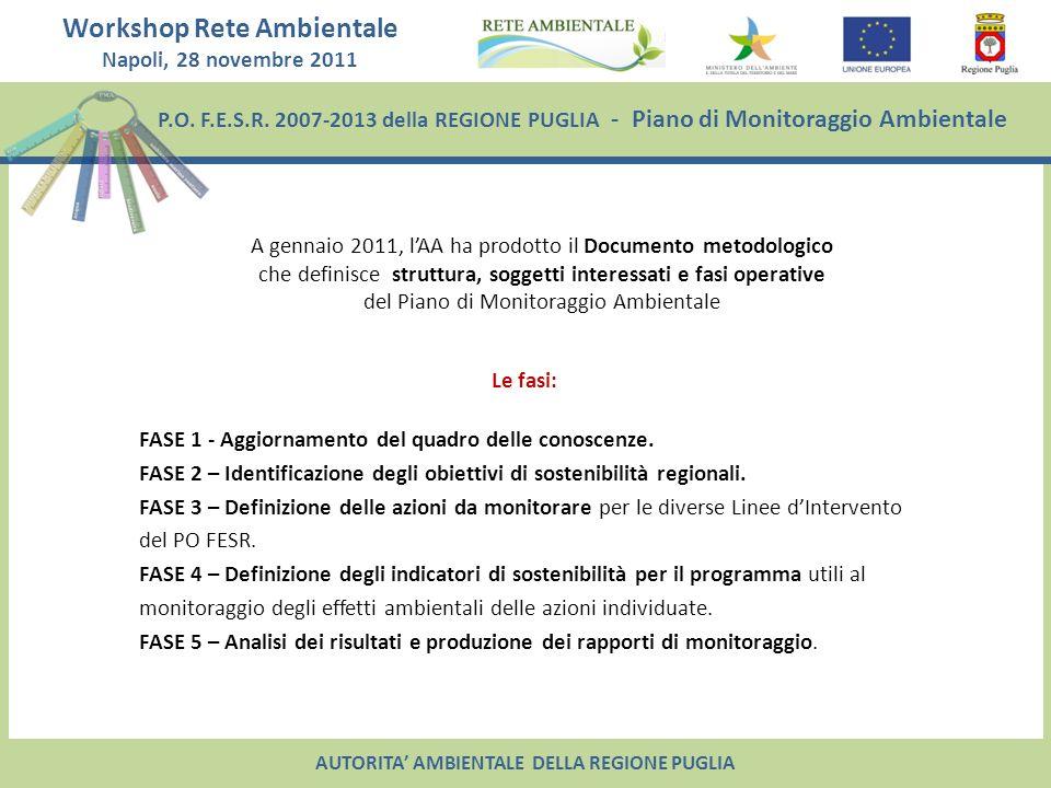 A gennaio 2011, l'AA ha prodotto il Documento metodologico