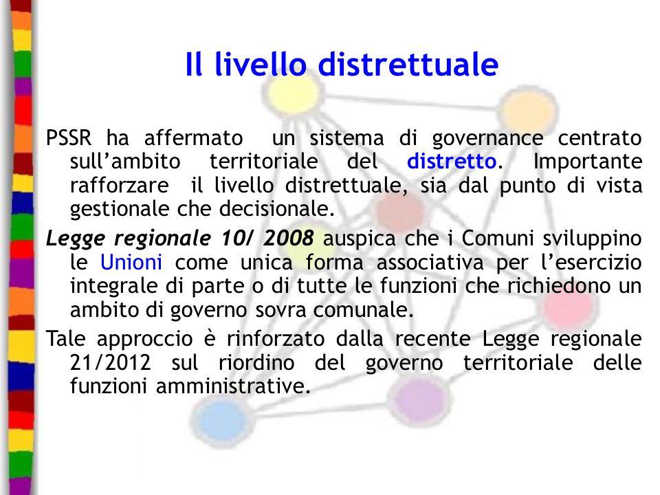Il livello distrettuale