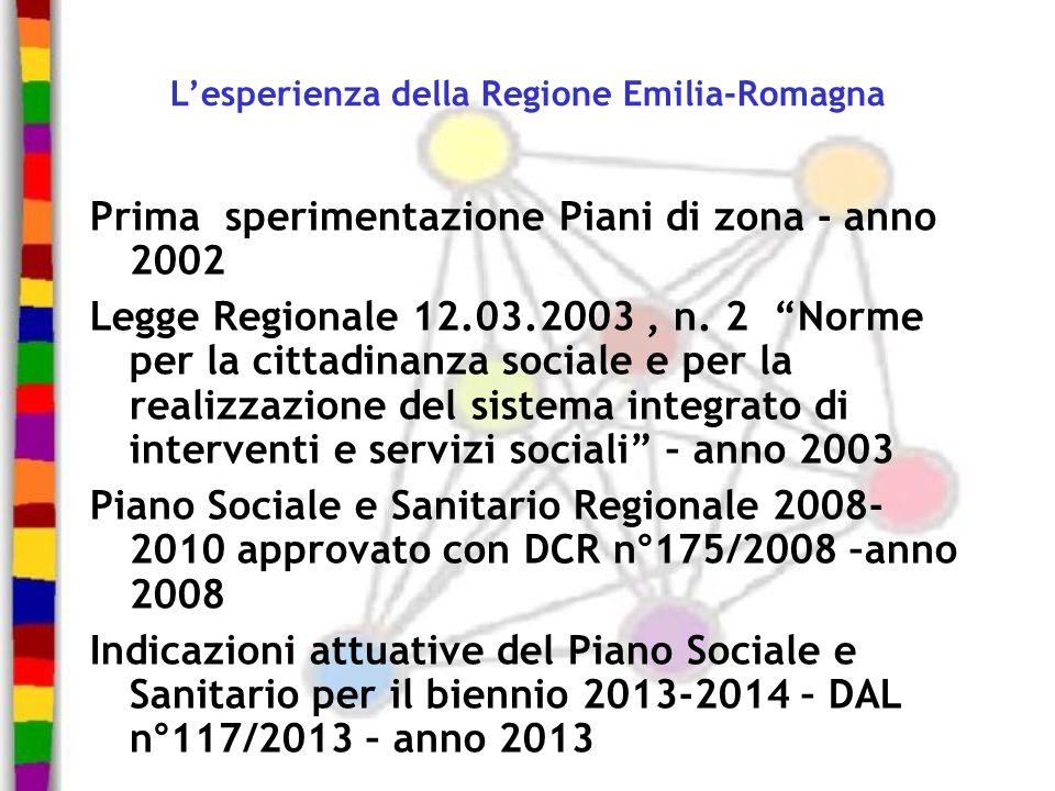 L'esperienza della Regione Emilia-Romagna
