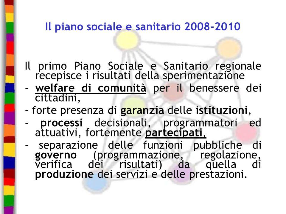 Il piano sociale e sanitario 2008-2010
