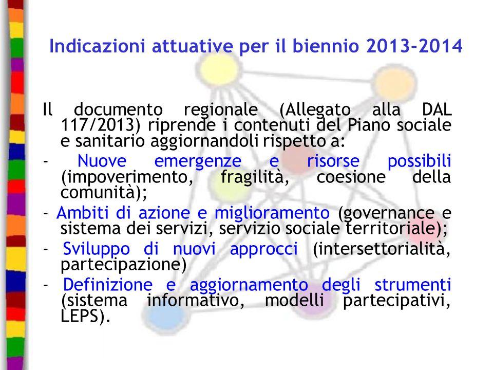 Indicazioni attuative per il biennio 2013-2014