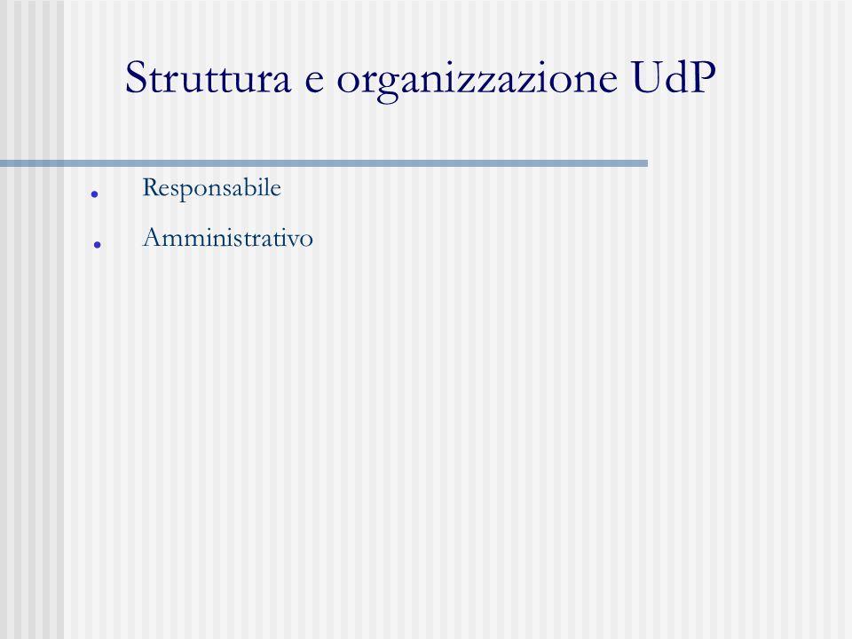 Struttura e organizzazione UdP
