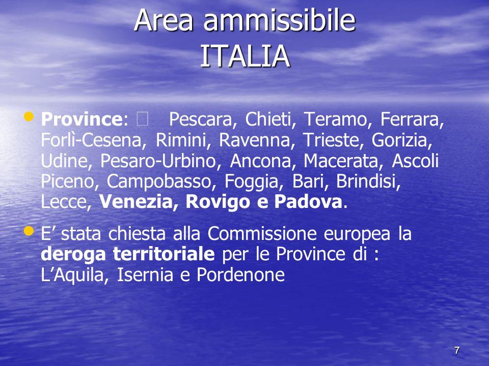 Area ammissibile ITALIA