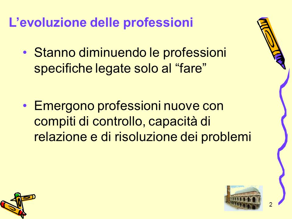 L'evoluzione delle professioni