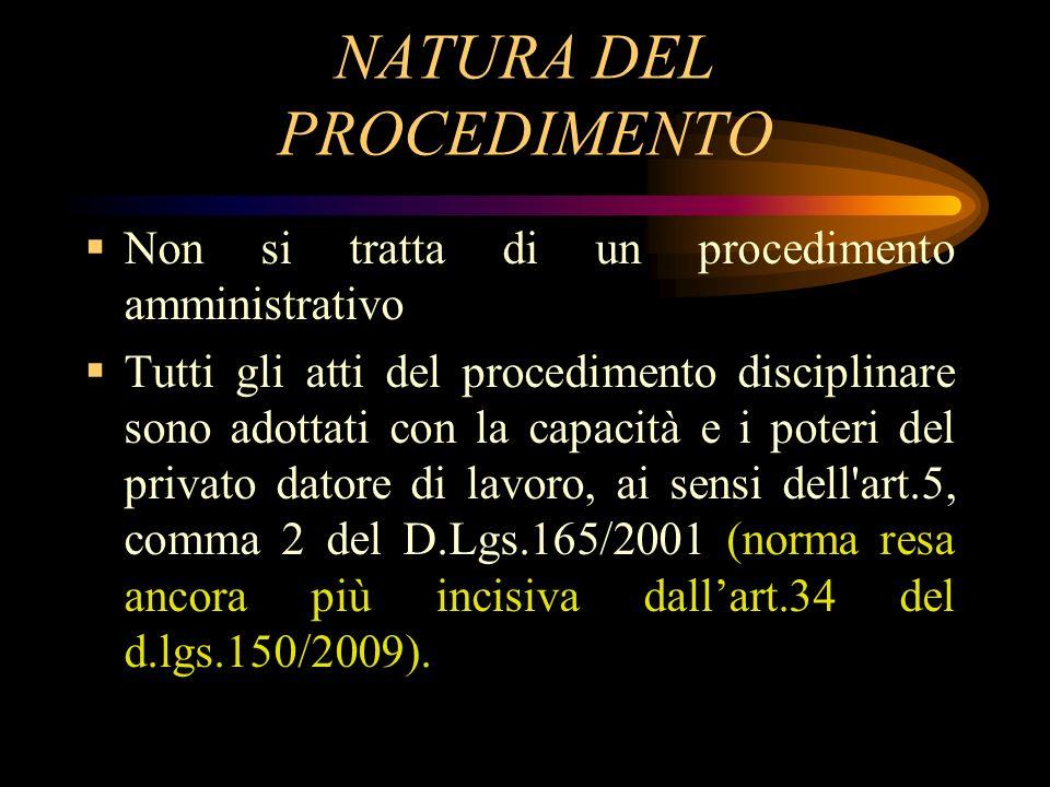 NATURA DEL PROCEDIMENTO