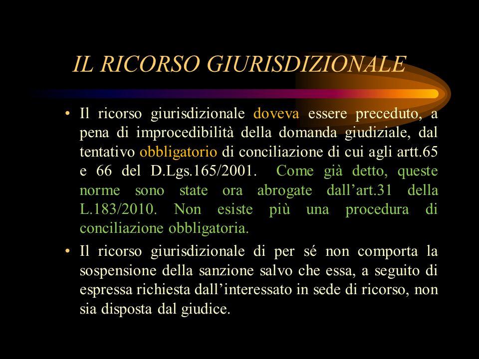 IL RICORSO GIURISDIZIONALE