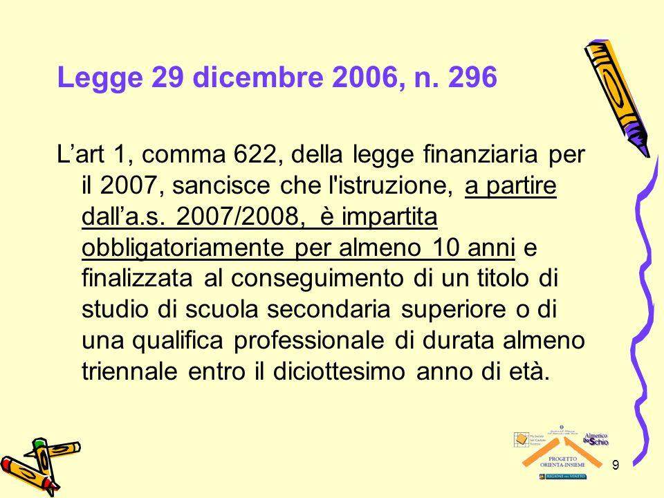 Legge 29 dicembre 2006, n. 296