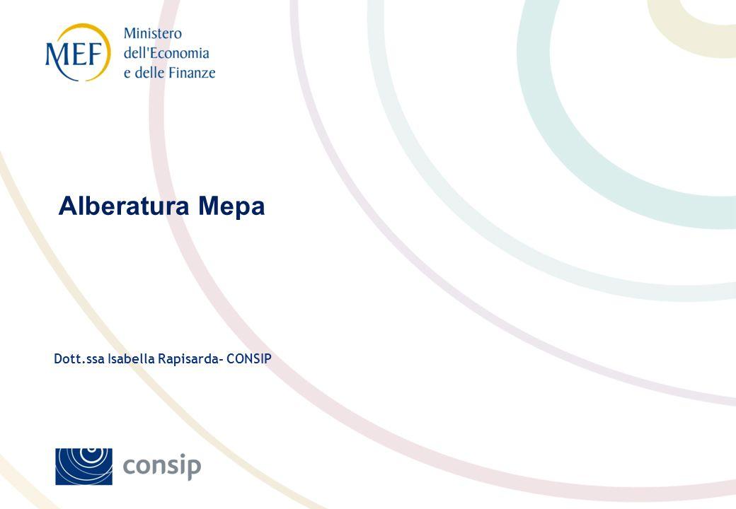 Alberatura Mepa Dott.ssa Isabella Rapisarda- CONSIP