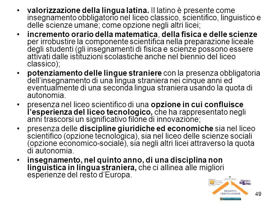 valorizzazione della lingua latina