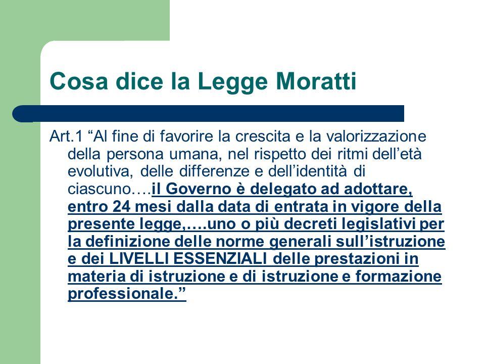 Cosa dice la Legge Moratti