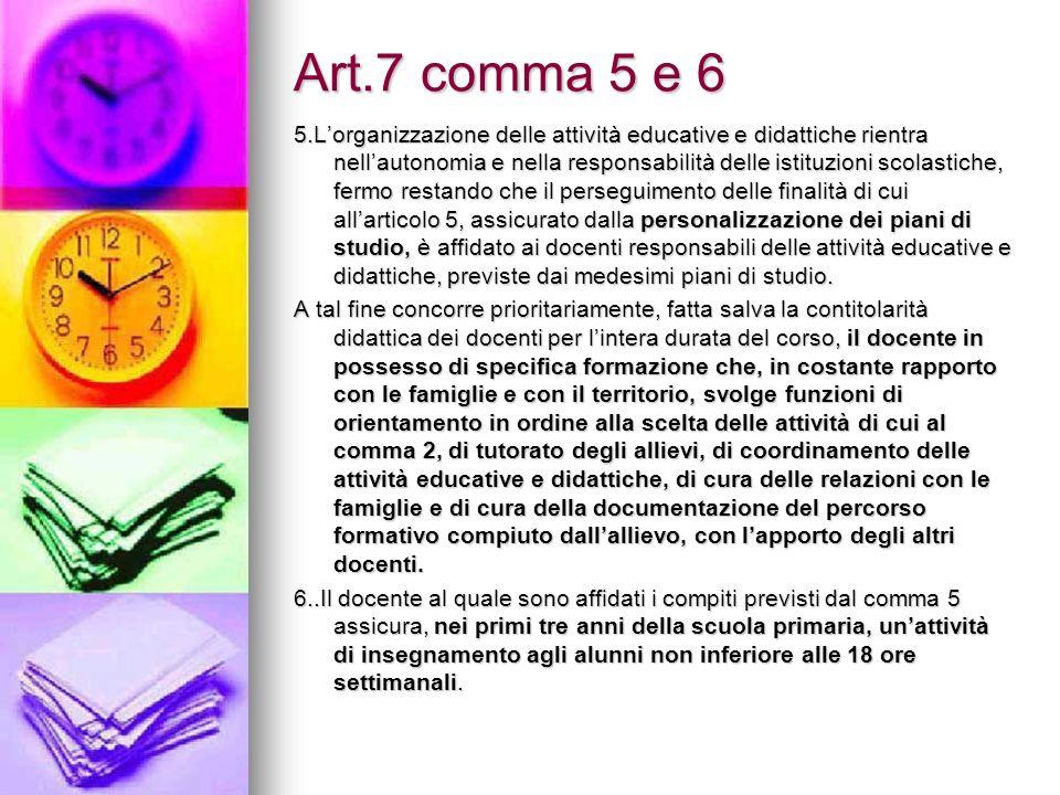 Art.7 comma 5 e 6