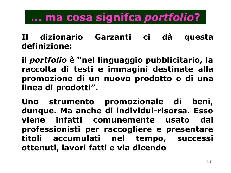 … ma cosa signifca portfolio