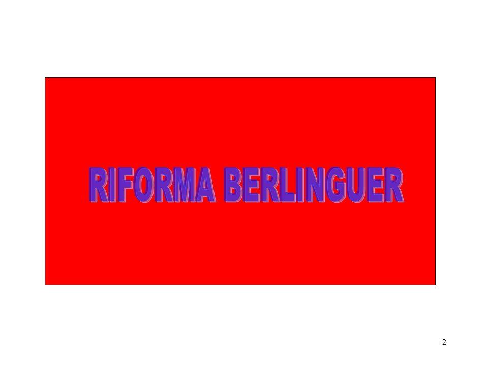 RIFORMA BERLINGUER