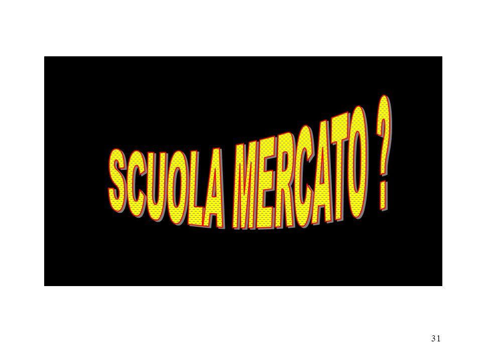 SCUOLA MERCATO L'ANNO SCORSO NEI SUPERMRCATI DEL NORD