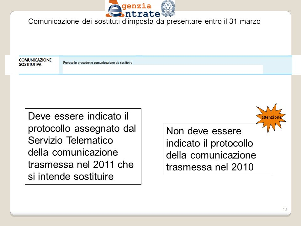 Comunicazione dei sostituti d'imposta da presentare entro il 31 marzo