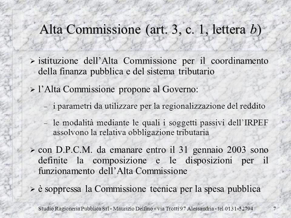 Alta Commissione (art. 3, c. 1, lettera b)