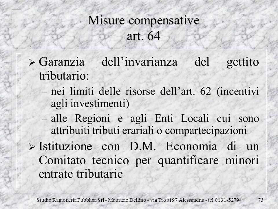 Misure compensative art. 64