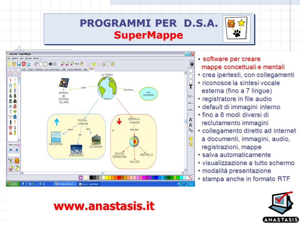 www.anastasis.it PROGRAMMI PER D.S.A. SuperMappe software per creare