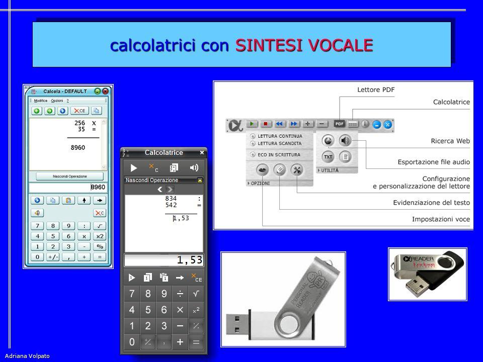 calcolatrici con SINTESI VOCALE