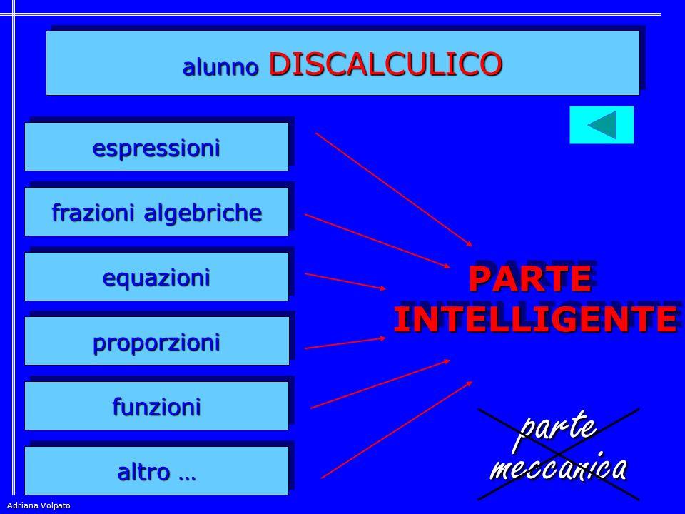 parte meccanica PARTE INTELLIGENTE alunno DISCALCULICO espressioni