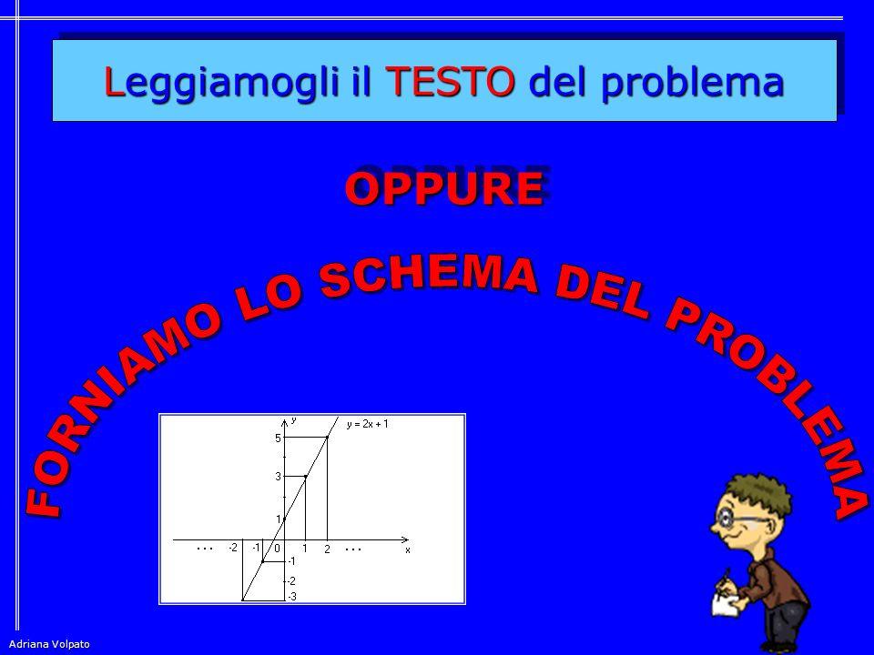 FORNIAMO LO SCHEMA DEL PROBLEMA