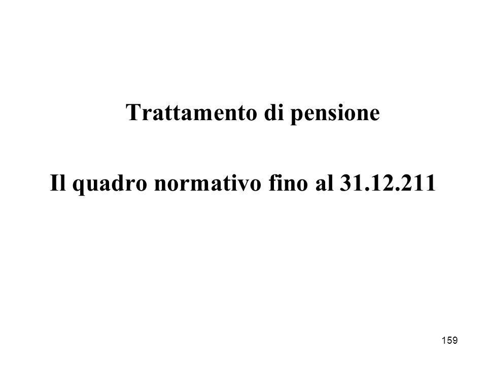 Il quadro normativo fino al 31.12.211