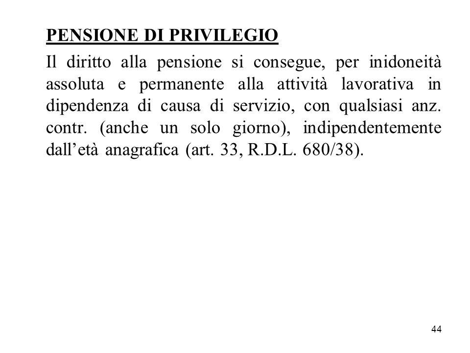 PENSIONE DI PRIVILEGIO
