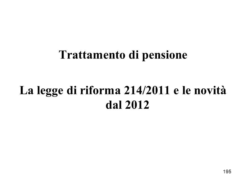 Trattamento di pensione