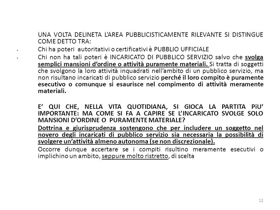 Chi ha poteri autoritativi o certificativi è PUBBLIO UFFICIALE