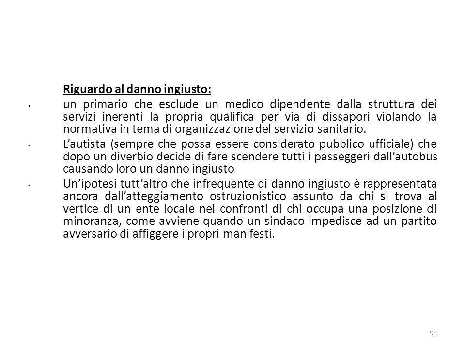 17/10/13 17/10/13. Riguardo al danno ingiusto: