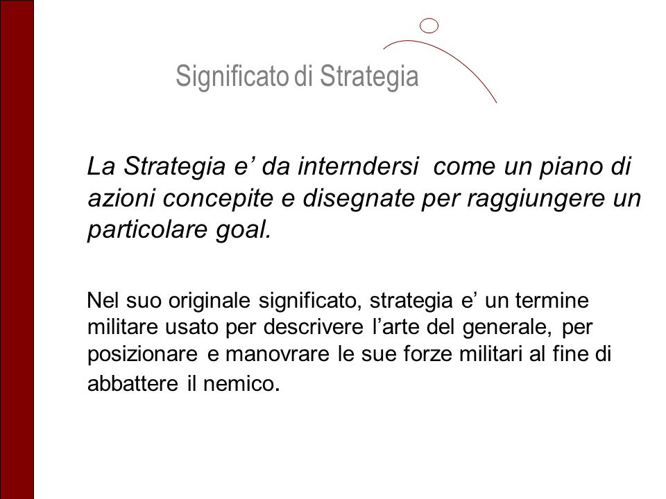 Significato di Strategia