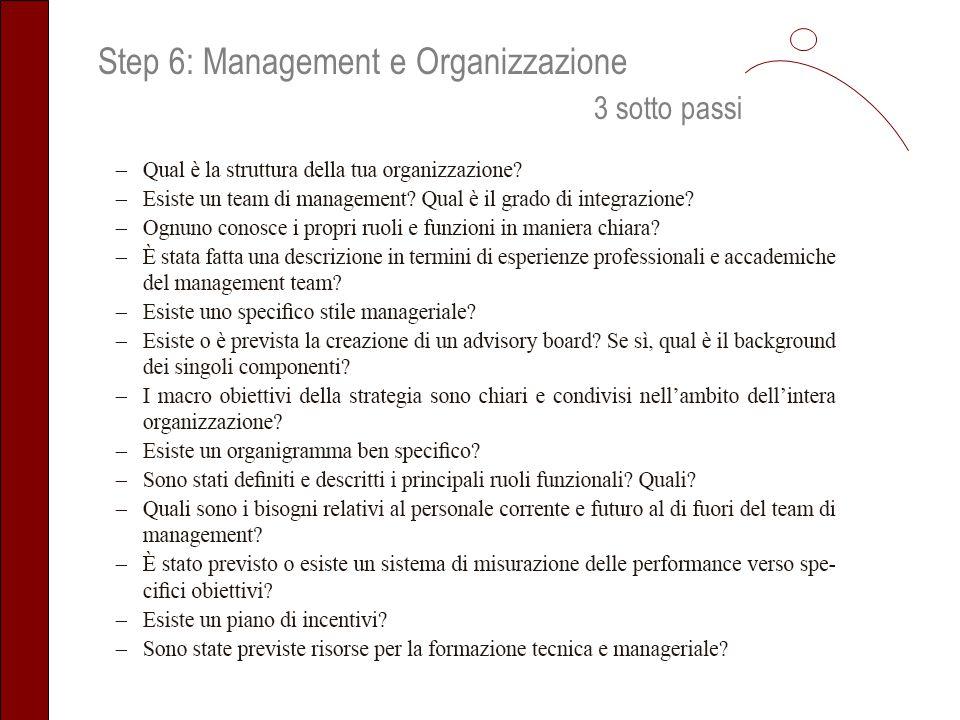 Step 6: Management e Organizzazione