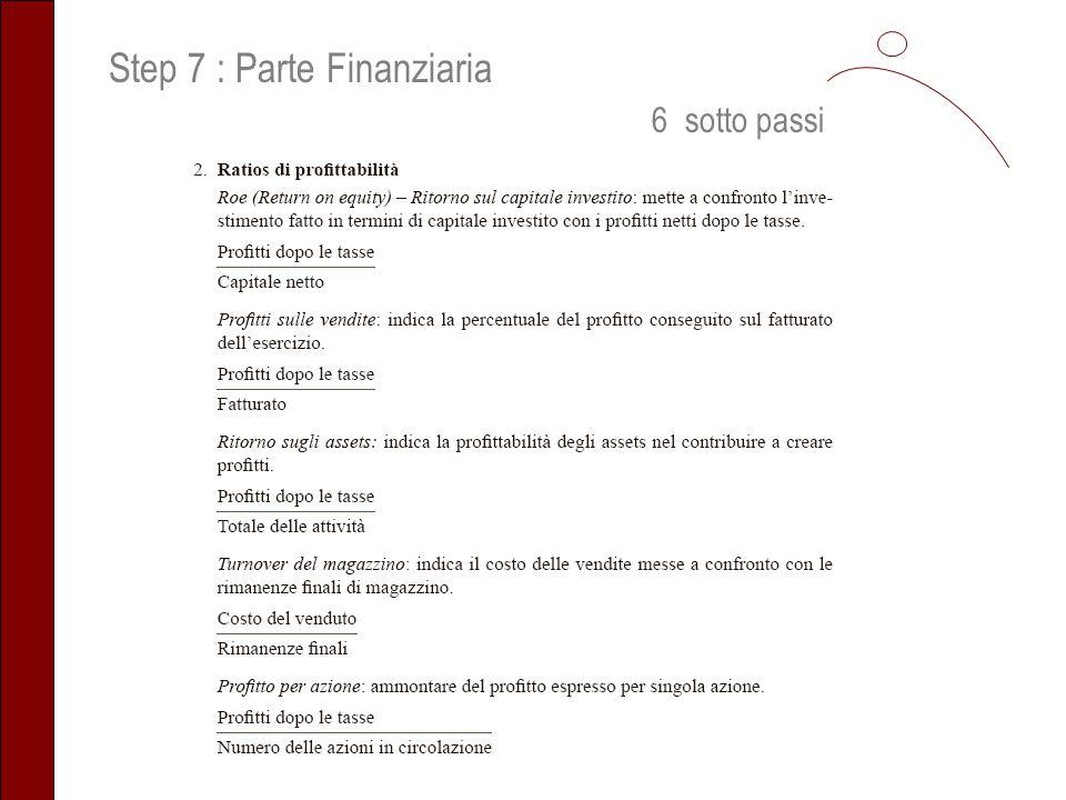Step 7 : Parte Finanziaria