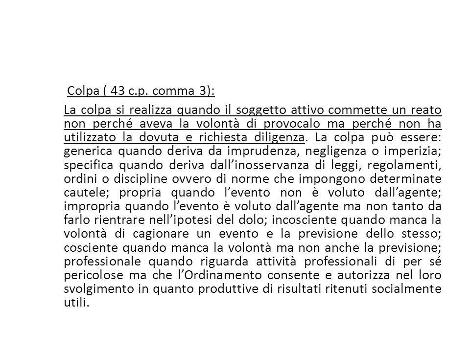 25/06/13 25/06/13. Colpa ( 43 c.p. comma 3):